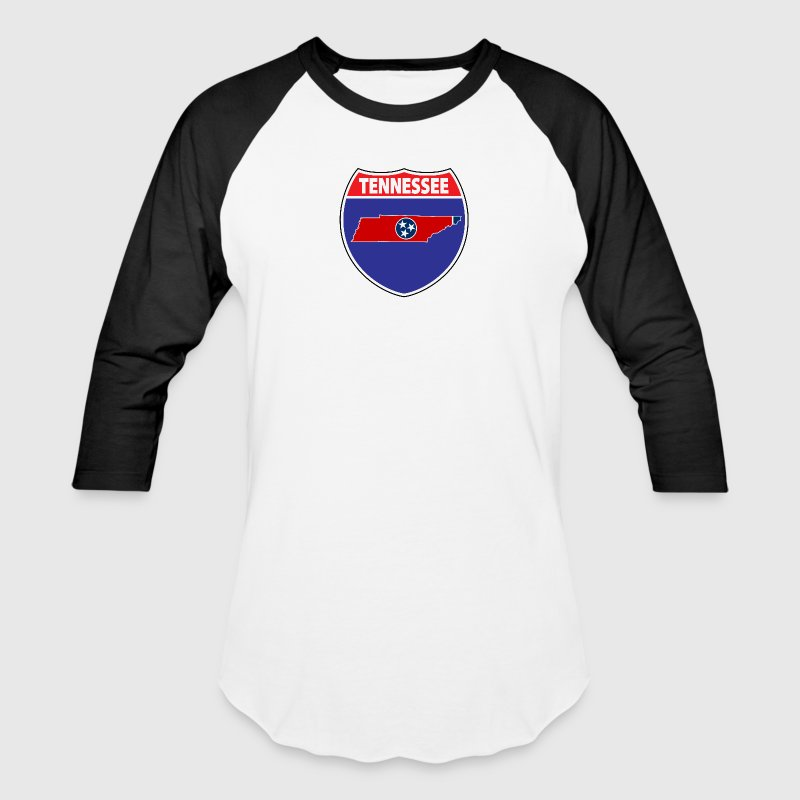 Tennessee flag hwy sign - Baseball T-Shirt