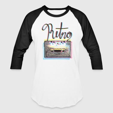 retro cassette - Baseball T-Shirt