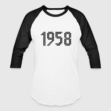 1958, Numbers, Year, Year Of Birth - Baseball T-Shirt
