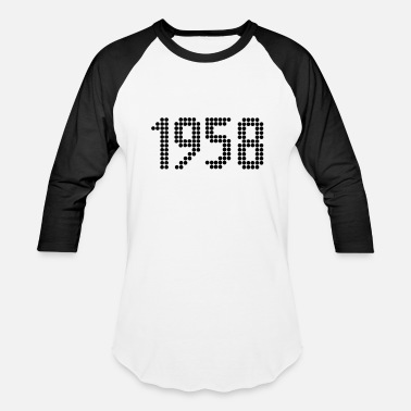 Year Of Birth 1958, Numbers, Year, Year Of Birth - Baseball T-Shirt