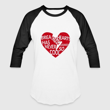 red breaking hearts red - Baseball T-Shirt