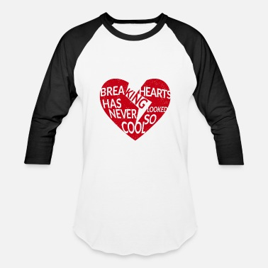 Red Heart red breaking hearts red - Baseball T-Shirt