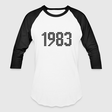 1983 Year 1983, Numbers, Year, Year Of Birth - Baseball T-Shirt