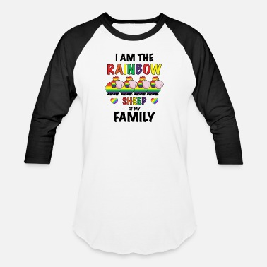 Statement Funny LGBT Shirt Rainbow Sheep of the Family - Unisex Baseball T-Shirt