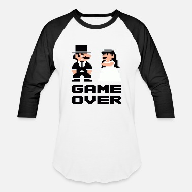 Game Over Game over - Unisex Baseball T-Shirt