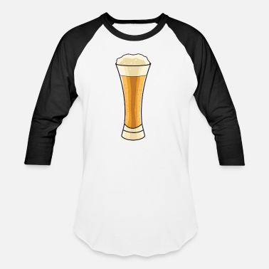 Wheat Beer Wheat Beer Glass - Unisex Baseball T-Shirt