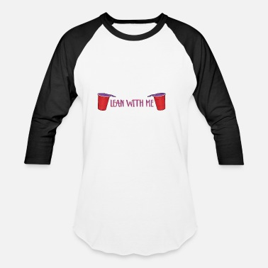 I Love Lean lean with me I trap I hip hop I lean I gift idea - Baseball T-Shirt