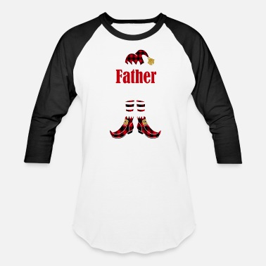 Plaid Father Elf Christmas Matching Family Buffalo Plaid Gift - Baseball T-Shirt