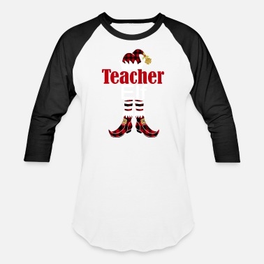 Plaid Christmas Teacher Buffalo Plaid Elf Holiday Gift - Baseball T-Shirt