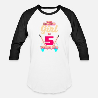 5 Years Old Funny This Laser Girl is 5 Years Old - Baseball T-Shirt