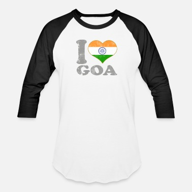 Goa Kids I Love Goa India Indian Flag Pride - Baseball T-Shirt