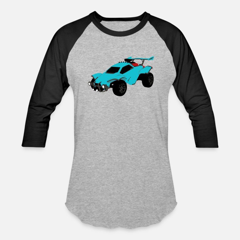 Rocket league Baseball T-Shirt - heather gray/black