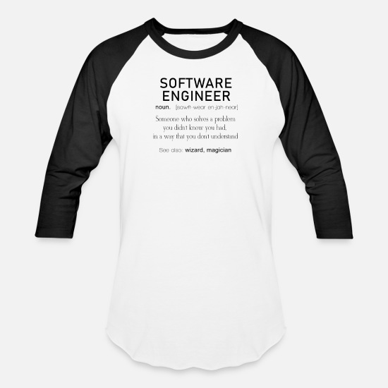 09ca64b7 Developer T-Shirts - Software Engineer Definition Coder Definition Funny  Programmer - Unisex Baseball T