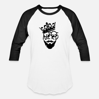 Beard Nerd Nerd Beard King - Baseball T-Shirt