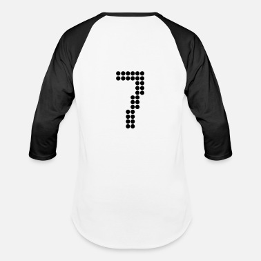Football Jersey Number 7, Numbers, Football Numbers, Jersey Numbers - Unisex Baseball T-Shirt