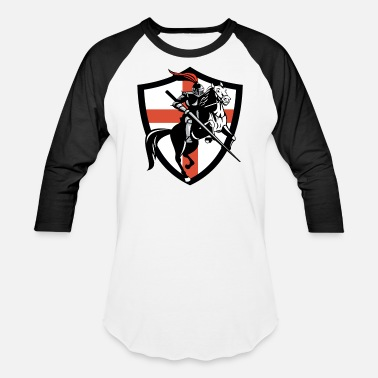 Cross Medieval Knight Jousting Saint Georges Cross - Unisex Baseball T-Shirt