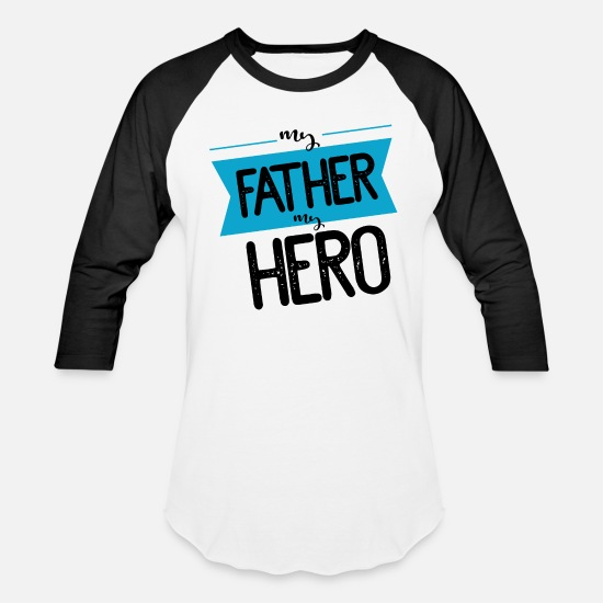 Father's Day T-Shirts - fathers day - Unisex Baseball T-Shirt white/black