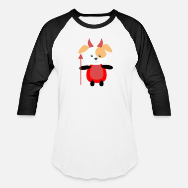 Devil Cute Cute Funny Devil Dog - Baseball T-Shirt