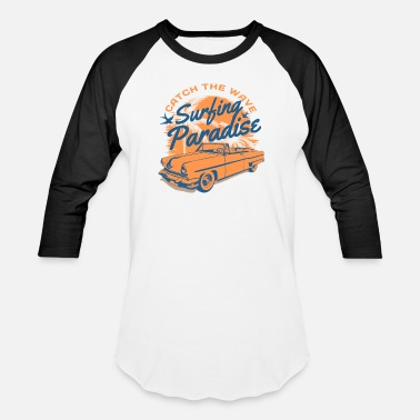 Malibu Muscle Car surfing paradise muscle car - Baseball T-Shirt