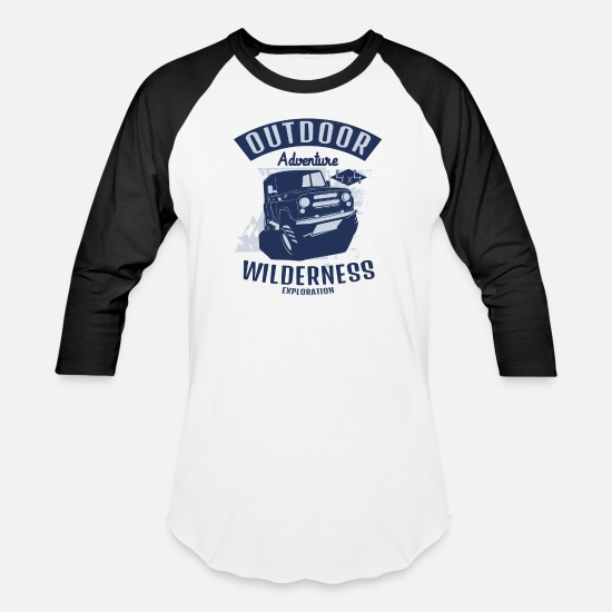 Wheel T-Shirts - wilderness adventure - Unisex Baseball T-Shirt white/black