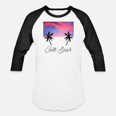 South Beach South Beach - Unisex Baseball T-Shirt