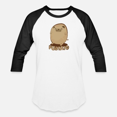 Ecocontest Pugtato Pet Dog Potato Food Pug - Unisex Baseball T-Shirt