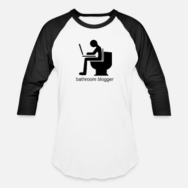 Bathroom bathroom blogger - Unisex Baseball T-Shirt