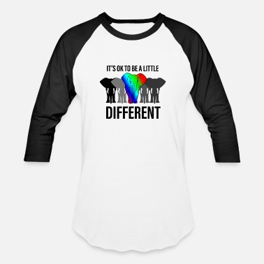 Different Its ok to be different - Unisex Baseball T-Shirt