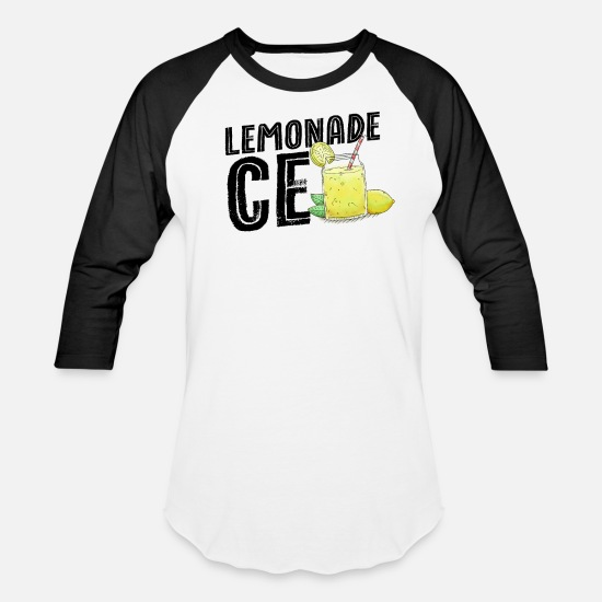 Standard T-Shirts - Lemonade Stand Shirt Kids Lemonade Stand CEO - Unisex Baseball T-Shirt white/black