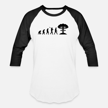 Nuclear Waste Evolution of Nuclear - Unisex Baseball T-Shirt