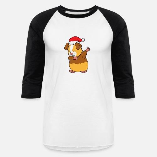 Christmas Xmas Dabbing Dab Guinea Pig Unisex Baseball T Shirt