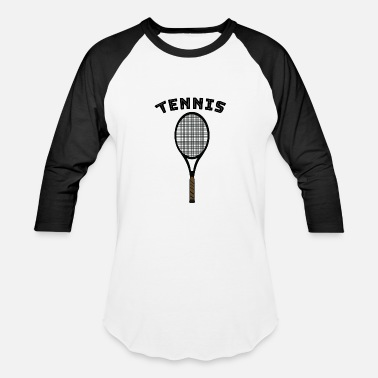 Racket Tennis with racket - Unisex Baseball T-Shirt