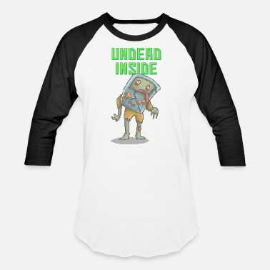 Zombie Video Game | Funny Zombie Pizelart - Baseball T-Shirt