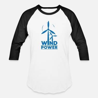 Animal Protection Wind power environmental protection gift environme - Unisex Baseball T-Shirt