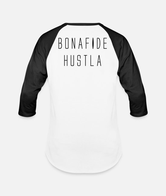 Hiphop Urban T-Shirts - BONAFIDE HUSTLA - Unisex Baseball T-Shirt white/black