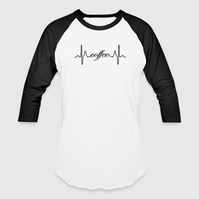 Coffee ECG heartbeat - Baseball T-Shirt