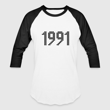 1991, Numbers, Year, Year Of Birth - Baseball T-Shirt