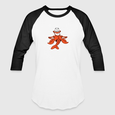 Cartoon Lobster - Baseball T-Shirt