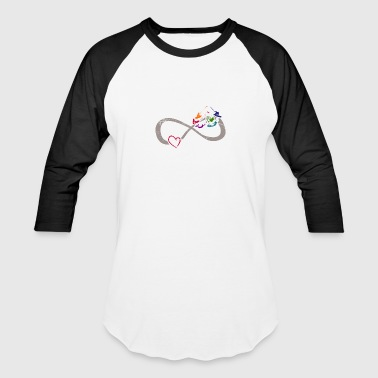 Infinite Love ∞ I Love Kitesurfing ∞ Wind Summer - Baseball T-Shirt