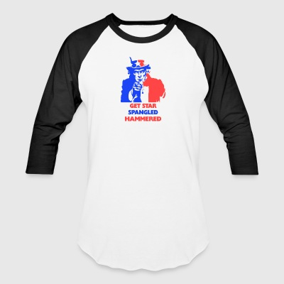 July 4th Get Star Spangled Hammered - Baseball T-Shirt