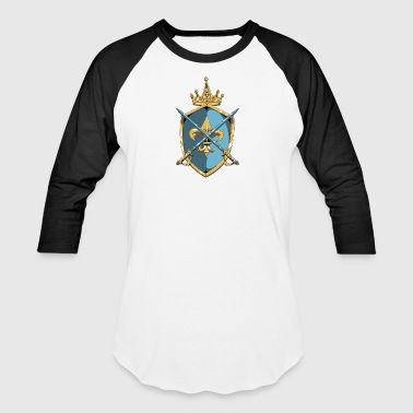 Shield_with_saber_and_crown - Baseball T-Shirt