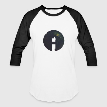 Circle Man Space - Baseball T-Shirt