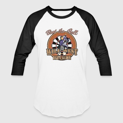 Wild West Darts Saloon Darts Shirt - Baseball T-Shirt