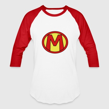 Super, Hero, Heroine, Initials, M - Baseball T-Shirt