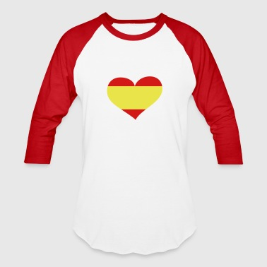 Spain Heart; Love Spain - Baseball T-Shirt