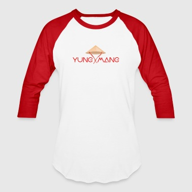 Asian Art Funny Asian YUNG MAN (Version 3) - Baseball T-Shirt