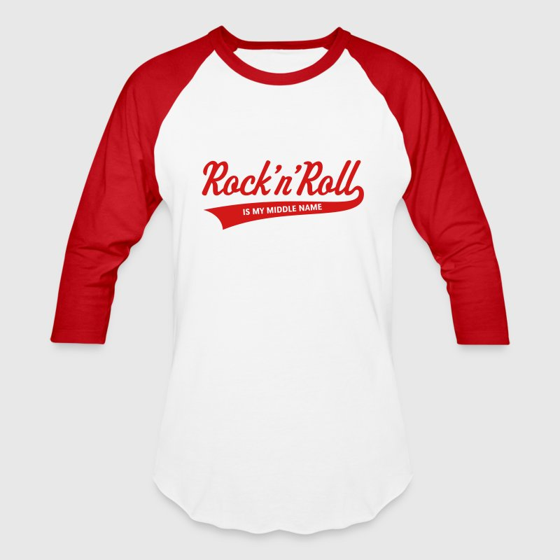 Rock 'n' Roll Is My Middle Name (1C) - Baseball T-Shirt
