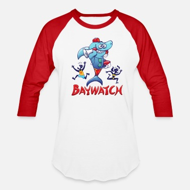 Baywatch Baywatch Shark - Baseball T-Shirt