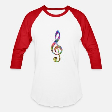 Treble Treble Clef - Baseball T-Shirt