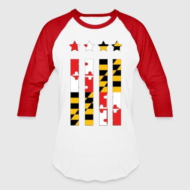 Maryland Flag - Baseball T-Shirt
